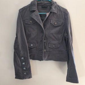IDEOLOGY Military inspired denim jacket. Gray. PL.